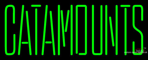 Vermont Catamounts Wordmark  Pres Logo Ncaa Neon Sign