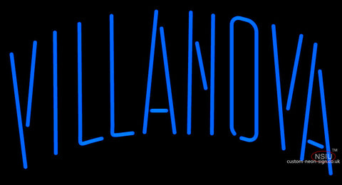 Villanova Wildcats Wordmark  Pres Logo Ncaa Neon Sign