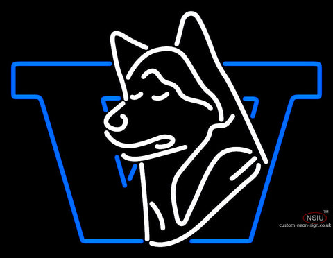 Washington Huskies Primary   Logo Ncaa Neon Sign