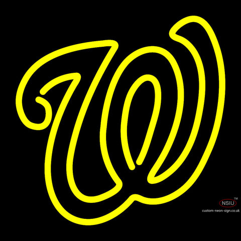 Washington Nationals Wordmark  Pres Logo MLB  Neon Sign x
