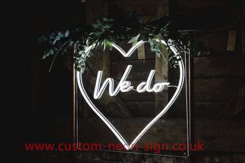 We Do With Love Wedding Home Deco Neon Sign