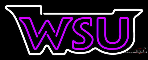 Weber State Wildcats Wordmark  Pres Logo Ncaa Neon Sign