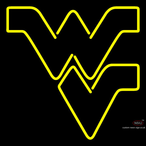 West Virginia Mountaineers Alternate  Pres Logo Ncaa Neon Sign