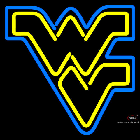 West Virginia Mountaineers Primary  Pres Logo Ncaa Neon Sign x