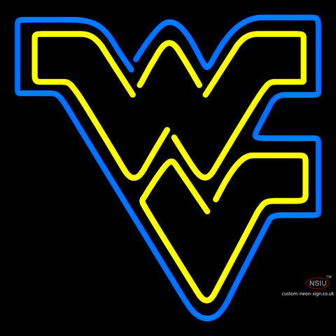 West Virginia Mountaineers Primary  Pres Logo Ncaa Neon Sign