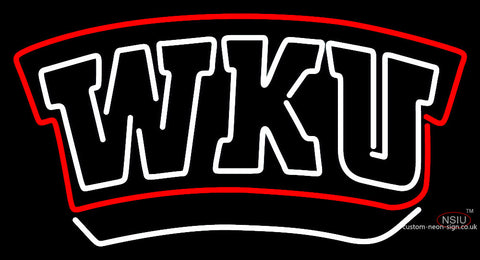 Western Kentucky Hilltoppers Wordmark  Pres Logo Ncaa Neon Sign