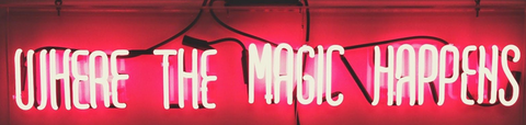 where the magic happens Handmade Art Neon Signs