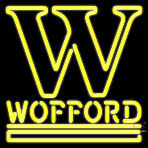 Wofford Terriers Alternate 7 Pres Logo Ncaa Real Neon Glass Tube Neon Sign x