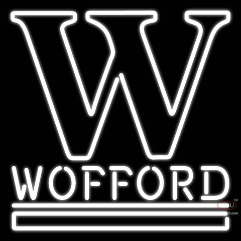 Wofford Terriers Primary 7 Pres Logo Ncaa Real Neon Glass Tube Neon Sign