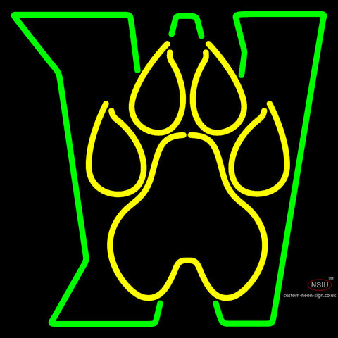 Wright State Raiders Alternate  Pres Logo Ncaa Neon Sign