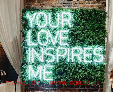 You Love Inspires Me Wedding Home Deco Neon Sign