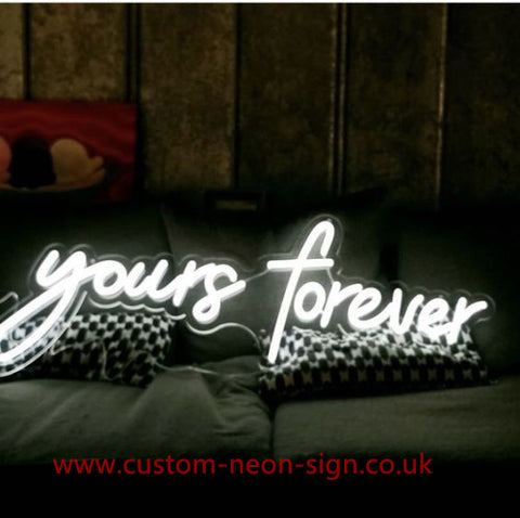 Yours Forever Wedding Home Deco Neon Sign