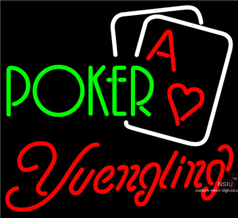 Yuengling Green Poker Neon Sign x