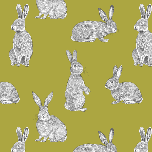 Bunnies in Chartreuse