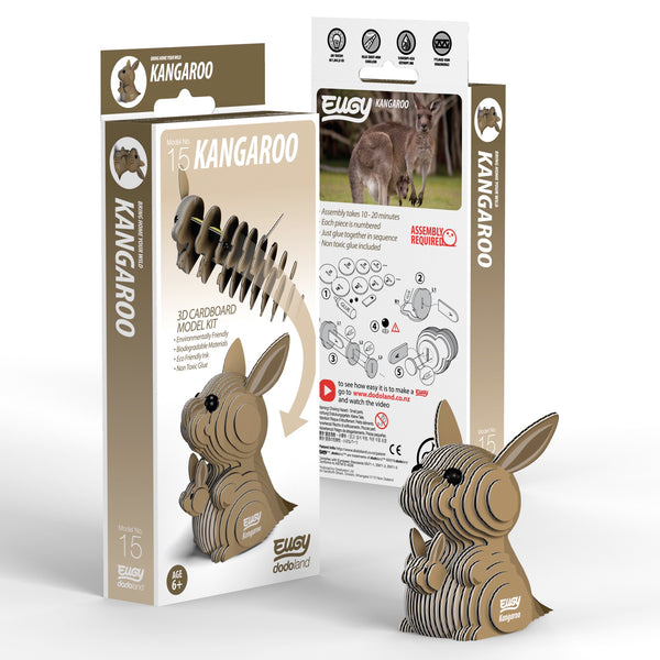 Kangaroo 3D Cardboard Model Kit