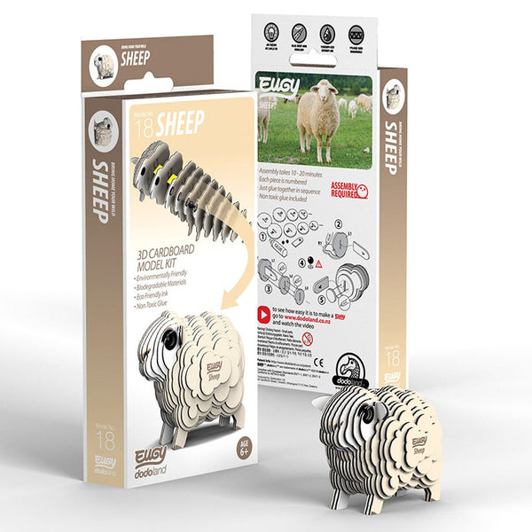 Sheep 3D Cardboard Model Kit