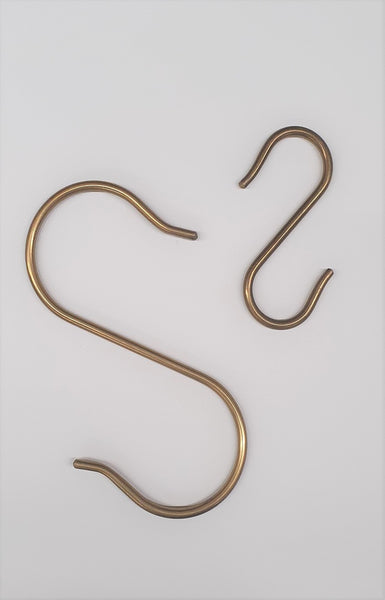 Brass S Hook Small