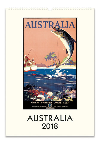 Australia 2018 Wall Calendar Vintage Travel Posters