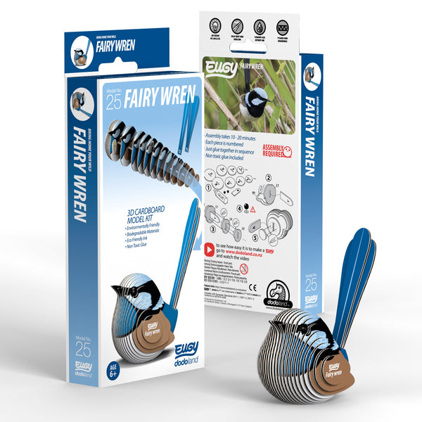 Fairy Wren 3D Cardboard Model Kit