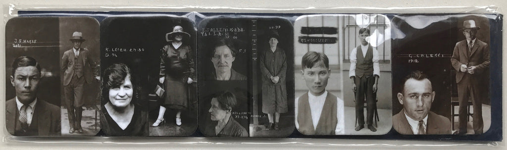 City of Shadows – Notorious Criminals Mugshots – 5 magnet set