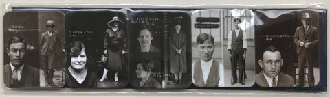 City of Shadows Notorious Criminals Mugshots 5 magnet set