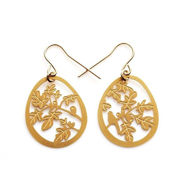 Polli Gold Fig Tree Small Earrings