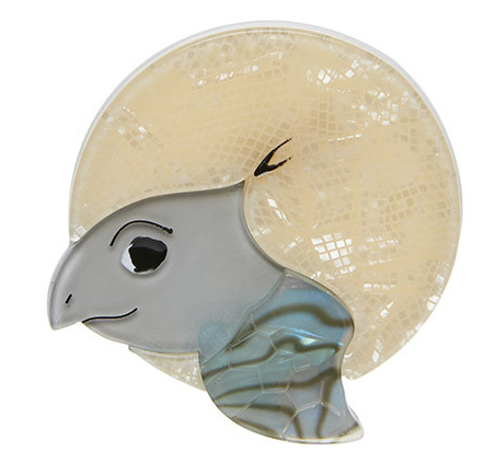 Erstwilder Swimming Solo Turtle Brooch