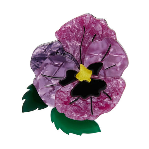 Erstwilder On Sleeping Eyelids Pansy Brooch