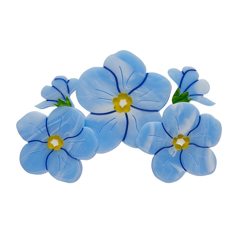 Erstwilder Don't You Forget About Me Forget-Me-Not Brooch