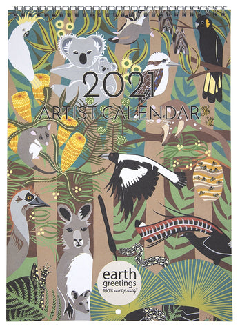 Earth Greetings 2021 Artist Calendar