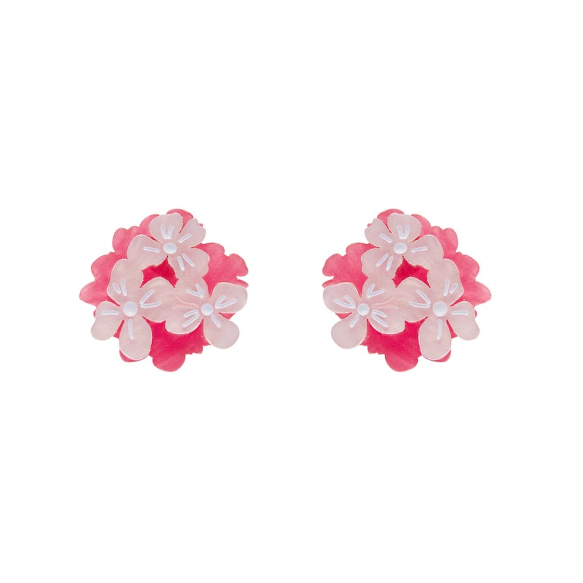 Erstwilder Heartfelt Hydrangea Pink Earrings