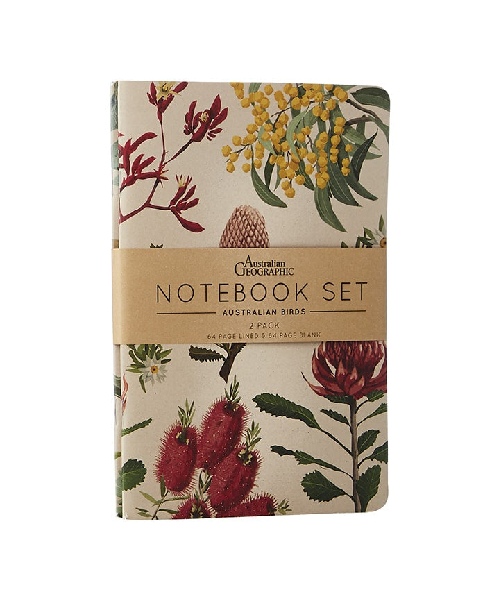 Notebook Set Australian Floral