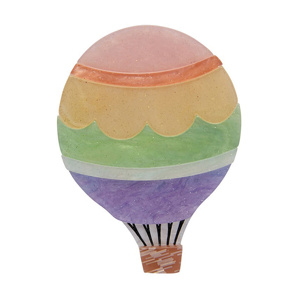 Erstwilder Around the World Hot Air Balloon Brooch