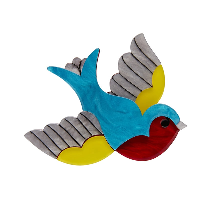 Erstwilder Betty Jo Sparrow Brooch