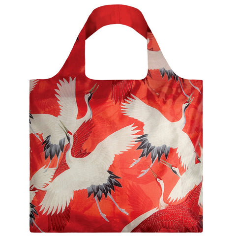 White and Red Cranes Shopping Bag Museum Collection