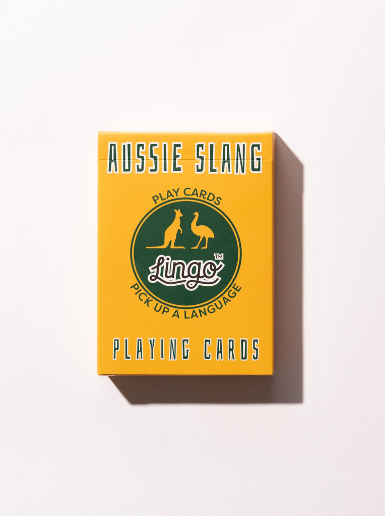 Aussie Slang Playing Cards Designed in Australia. Made in China