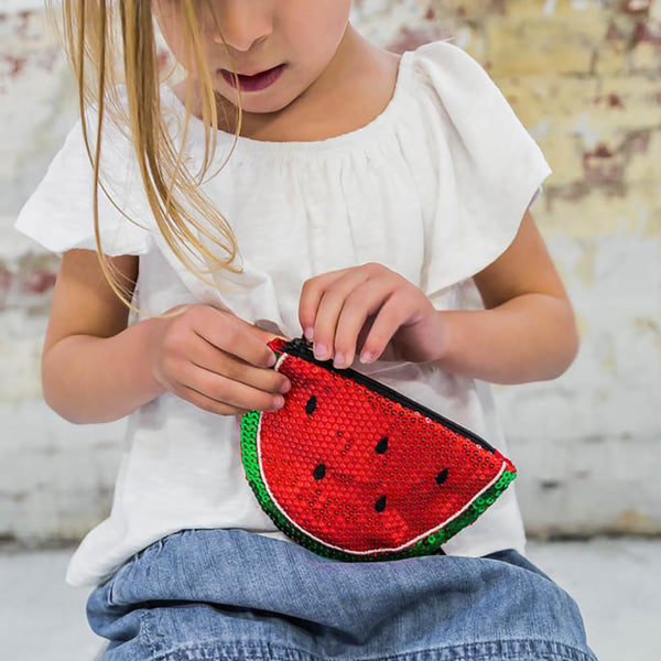 Iconic Treat Watermelon Sequin Purse
