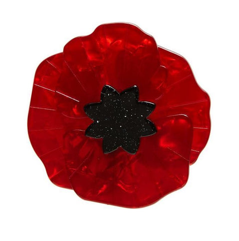 Erstwilder Poppy Field Brooch - Red