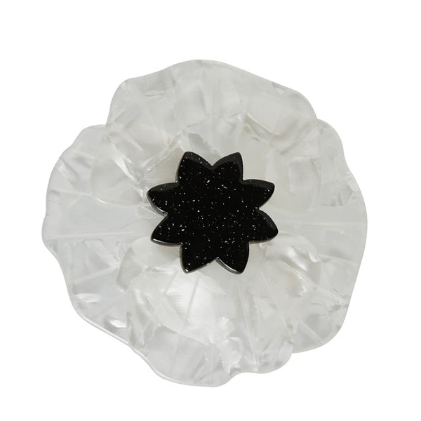 Erstwilder Poppy Field Brooch- White