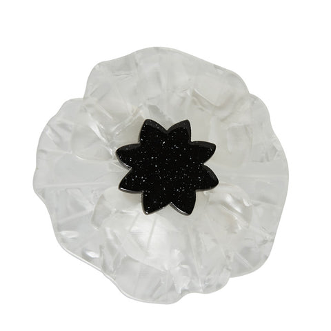 Erstwilder Poppy Field Brooch - White