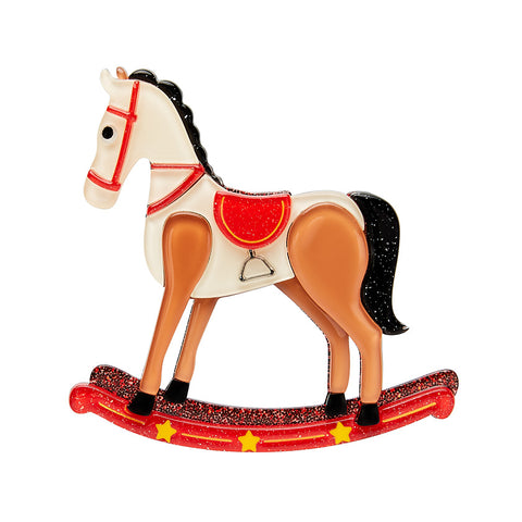 Erstwilder Rocking Reminiscence Horse Brooch
