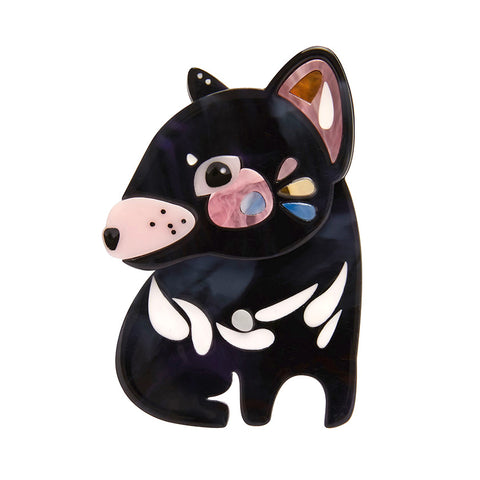 Erstwilder x Pete Cromer The Talkative Tasmanian Devil Brooch