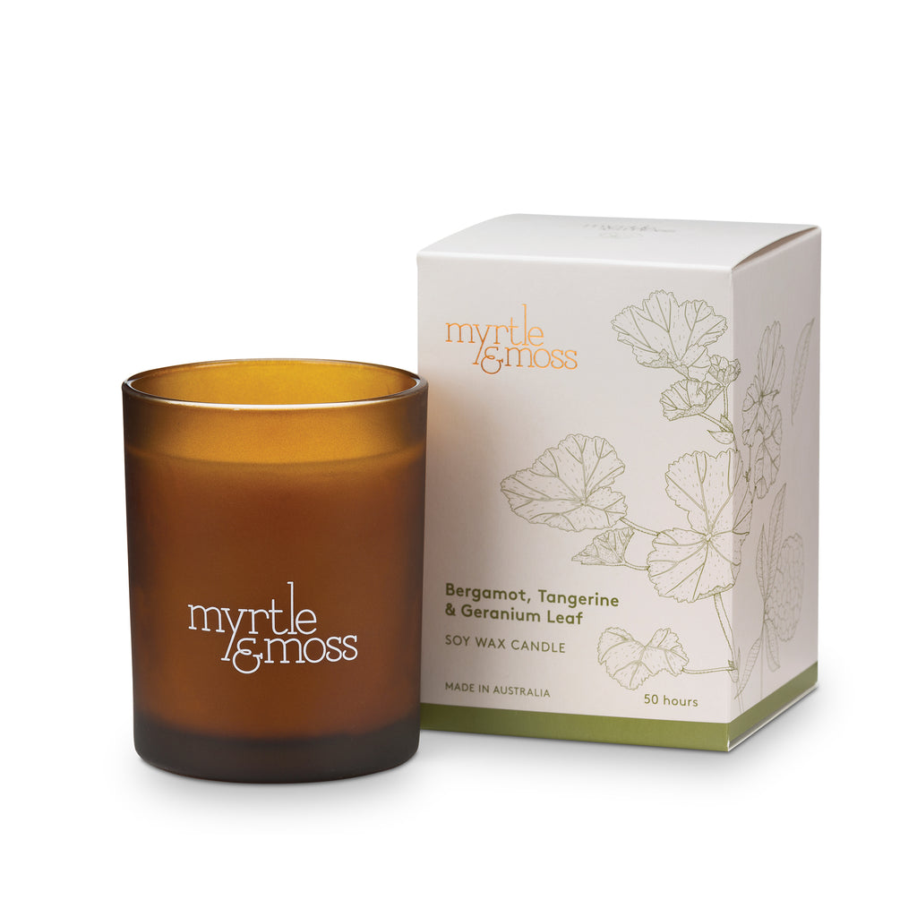 Myrtle & Moss Bergamot Soy Wax Candle