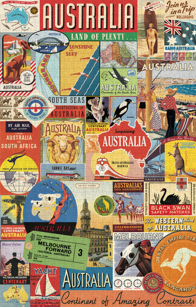 Australian Collage Vintage Puzzle 500 Pieces