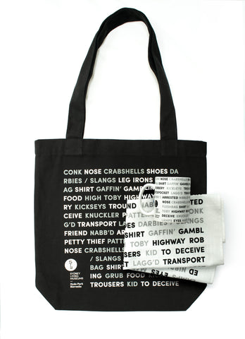 Convict Slang Mug, Tote, Tea Towel Set