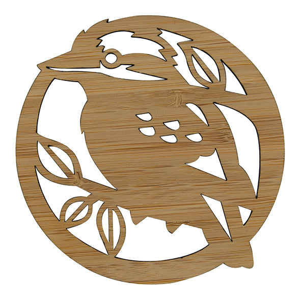 Laughing Kookaburra Bamboo Coasters Set of 4