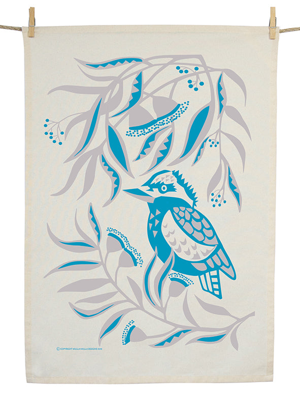 Organic Cotton Kookaburra Gum Tea Towel
