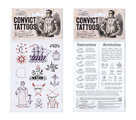 Authentic Convict Temporary Tattoos