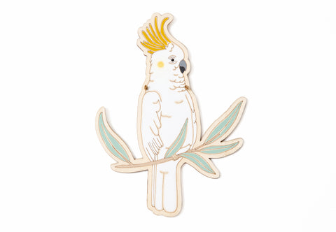 Sulphur-Crested Cockatoo Tree Topper - One Sided