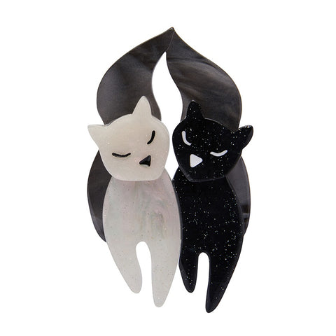 Erstwilder The Lovecats Brooch